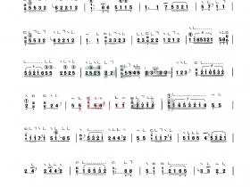 《莺啭黄鹂》、古筝曲谱