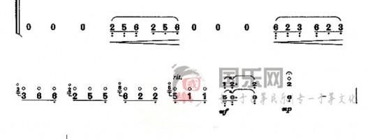 古筝考级曲谱(十级)《秋夜思》