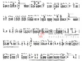 古筝考级曲谱(八级)《陈杏元落院》