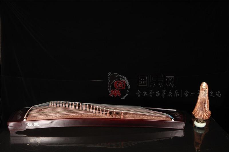 龙凤古筝紫檀嵌银丝筝