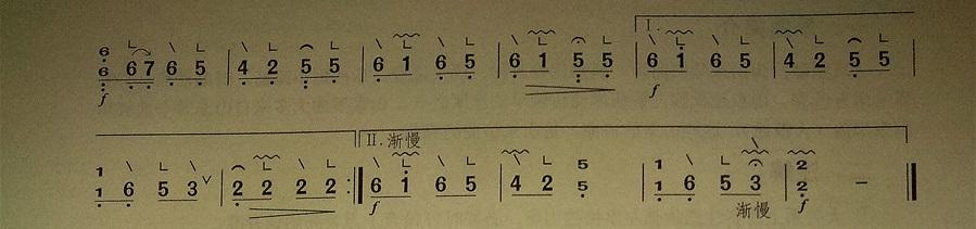古筝考级曲谱(二级)《画眉跳架》