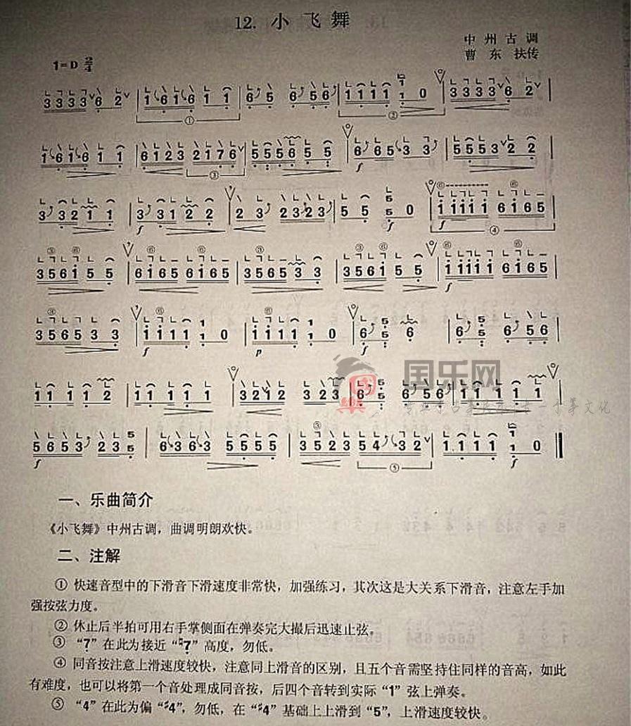 古筝考级曲谱(三级)《小飞舞》