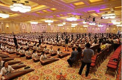 2520台敦煌古筝拉开首届澳门国际古筝音乐节序幕